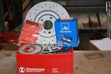 Disques de Frein Sport Perforé avec ABE et ATE Plaquettes en Céramique Audi A3 (