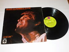 GLEN CAMPBELL - Live - 1970 UK 12-track LP recorded live in New Jersey in 1969