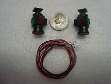 USA Trains Illuminated Marker Lights Set of Two Red & Green with Bulbs fits LGB