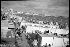 Plage Bord de Mer - Côte d'Azur   - Négatif photo ancien
