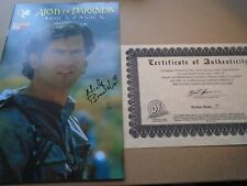ARMY OF DARKNESS ASHES 2 ASHES #1 Signed Photo Variant DF Edition NM 7/99