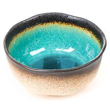 Turquoise Crackleglaze Japanese Bowl