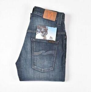 26876 Nudie Jeans Fin Finn Bleu Vision Bleu Hommes Jean En Taille 28/32