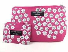 1 Set 2 Bags Marimekko Clinique Makeup Cosmetic Bag & Card ~Pink Cherry Blossoms