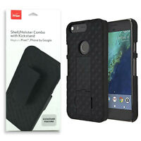New Verizon OEM Shell/Holster Combo with Kickstand & Belt Clip for Pixel Black