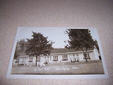 "1940s AU ""DOC"" MOTEL REPENTIGNY QUEBEC REAL-PHOTO RPPC POSTCARD"
