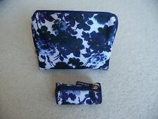 Set of 2 ESTEE LAUDER Cosmetic Makeup Bags - Multi color Blue - New