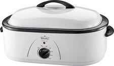 Rival - 18-Quart Roaster Oven - White
