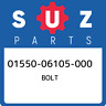 01550-06105-000 Suzuki Bolt 0155006105000, New Genuine OEM Part