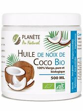 Huile de Coco Bio 500ml pure biologique soins corps visage cheveux femmes hommes