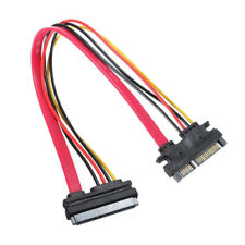 30CM Male to Female SATA Data Power Extension Cable M / F 22P 7 + 15Pin P3T L6W1