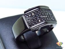 1.50Ct 14K Black Gold Over Mens Round Diamond Wedding Engagement Pinky Ring Band