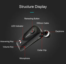 Fineblue F930 Wireless Bluetooth Retractable Headset Call Clarity Music-Blk