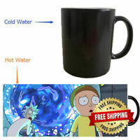 Rick and Morty Mugs Coffee Mug Heat Changing Color Heat Reveal Ceramic Tea Gifts