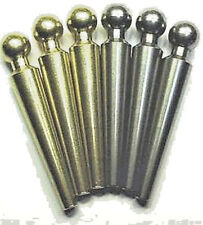 "6 Jumble Ball-Top Cribbage Pegs For 1/4"" Holes Solid Metals!,USA, Velvet Pouch b"
