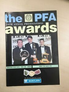 RARE 1993  PFA Football Awards Manchester Utd Autograph Dinner Programme / Menu