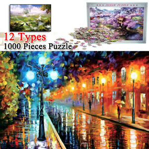 1000 Pieces Jigsaw Puzzles Wooden Puzzle Adult Kids Assembling Educational Toys