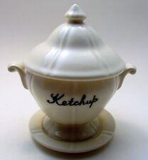3 piece Ketchup Condiment Jar Dish w/Spoon - Menschik Goldman Inc Mid Century