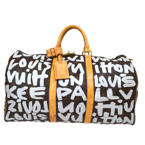 LOUIS VUITTON KEEPALL 50 TRAVEL HAND BAG MONOGRAM GRAFFITI M92197 fdl A43972f