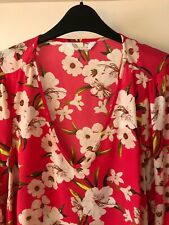 Yours fuchsia pink pin tuck detail tie back cotton blouse sizes 16 to 30 32