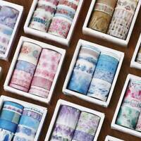 10Rolls/pack Washi Tapes Petal Starry DIY Scrapbook Paper Adhesive Sticker Craft