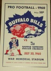 1960 Buffalo Bills Poster - 1st AFL Game - Boston Patriots  War Memorial Stadium
