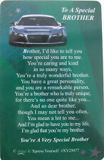 """Pocket Keepsake Messages """"To A Special Brother"""" Wallet/Purse Card/Envelop"""