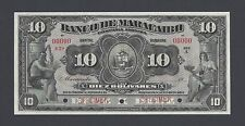 Venezuela Banco De Maracabo 10 Bolivares 1917 PS216 Specimen UNC