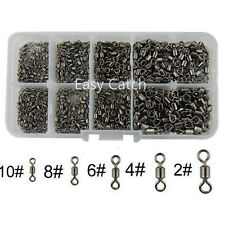 300Pcs Rolling Swivel Fishing Swivels Size 2#-10 Ball Bearing Tackle Connectors