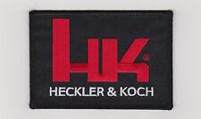 HK FIREARMS HECKLER & KOCH LOGO PATCH HOOK FASTENER BACKING PATCH