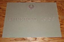Original 1963 Chrysler Imperial Deluxe Sales Brochure 63 LeBaron Crown Custom
