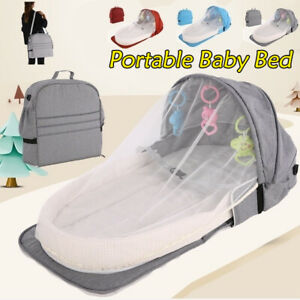 Baby Bed Travel Sun Protection with Mosquito Net Foldable Infant Sleeping Bed