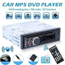 Single 1DIN Bluetooth Car Stereo CD VCD DVD MP3 Player AUX USB FM Radio In Dash