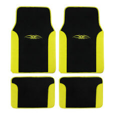 Brand New Yellow Tribal Car Truck Front Back Rear Carpet Floor Mats Vinyl Trim