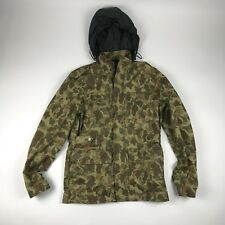 WILLIAM RAST Jacket Small Mens Camo Camouflage Hooded Zip Front Coat  Military