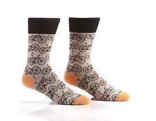 Yo Sox Bikes Funky Men's Crew Socks for Dress or Casual Wear Size 7-12