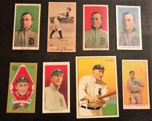 1909 Green Red Reprint T206 Ty Cobb Card Portrait + Honus Wagner 9 Baseball Lot