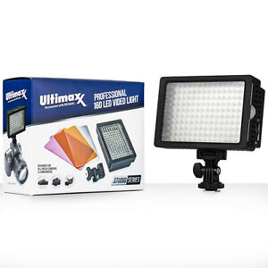ULTIMAXX Professional Dimmable 160 LED Light Video Camera for Canon Nikon Sony