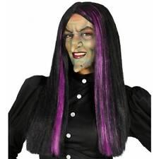 Perruque Sorcière Violet & Noir de Femmes Halloween Déguisement Gothique