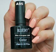 Bluesky A95 PEACH CREAM NUDE PASTEL GEL NAIL POLISH UV LED SOAK OFF NEW FREE P+P