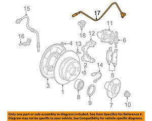 BMW OEM 01-06 325Ci ABS Anti-lock Brakes-Rear Speed Sensor 34526752683
