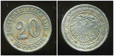 ALLEMAGNE 20 pfennig   1890 D