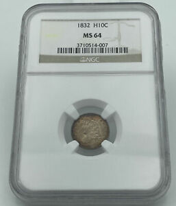 1832 Capped Bust Half Dime H10C NGC MS64