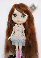 1/6 bjd Blythe doll bjd 25-28cm head copper brown color synthetic wig