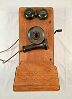 Vintage Wooden Crank Phone 20163 Kellogg Switchboard & Supply F2811