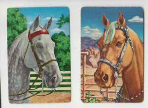 c105 Vintage Swap Cards classic  western  Palimino horse heads C1960's
