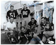 PACKERS Bart Starr Jim Taylor Ringo LOCKER ROOM signed 8x10 photo JSA LOA AUTO