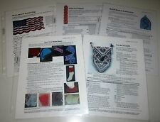 5 BEADED KNITTING PATTERNS USA Flag Necklace Bookmarks Headband Wristets Hats