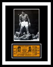 1965 MUHAMMAD ALI - SONNY LISTON TICKET & PHOTO DISPLAY *U FRAME IT*