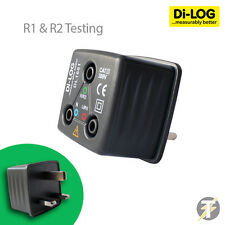 Di-Log DL1601 R1, R2 Colour Coded Mains Socket Tester / Adaptor for UK 13A plug